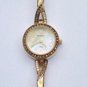 Armitron Now Mother of Pearl Crystal Pave watch